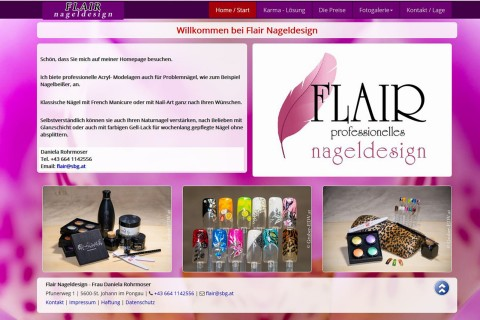 Foto Webseite Flair Nageldesign